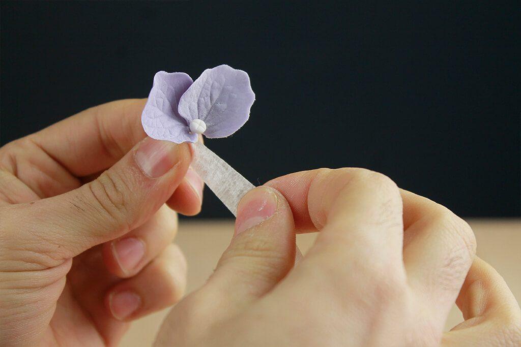 decorar-tarta-hortensia-azucar
